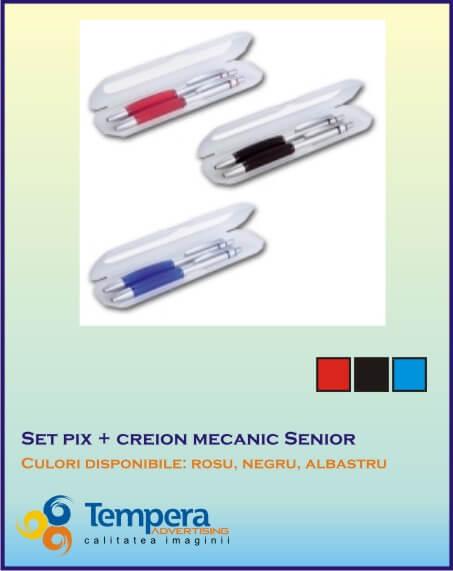 Set pix cu creion mecanic Senior
